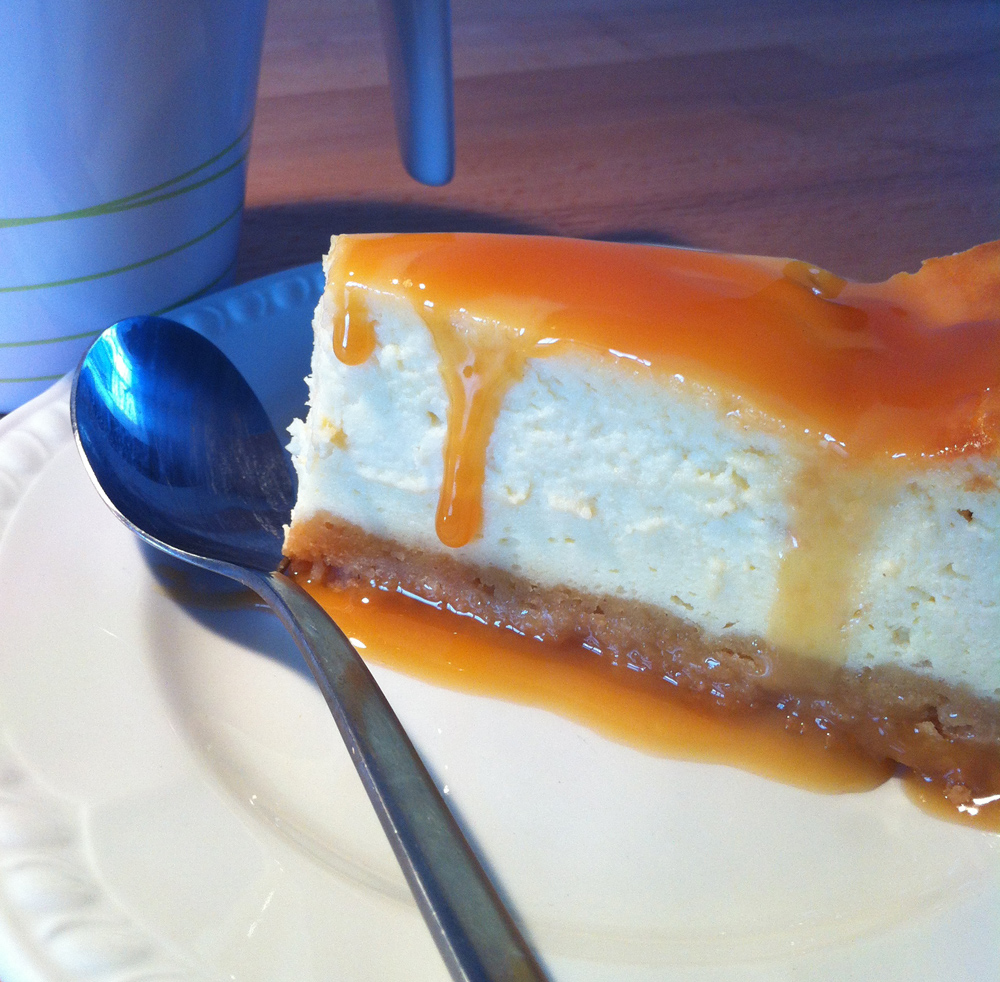 Sticky toffee cheesecake slice