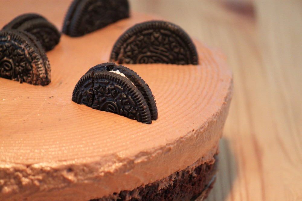 Oreo Chocolate Brownie Cheesecake - whole