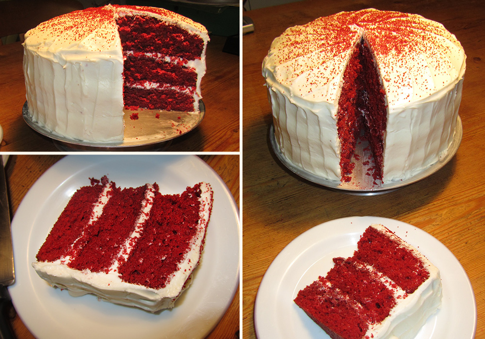 Triple Layer Red Velvet Cake - Compilation