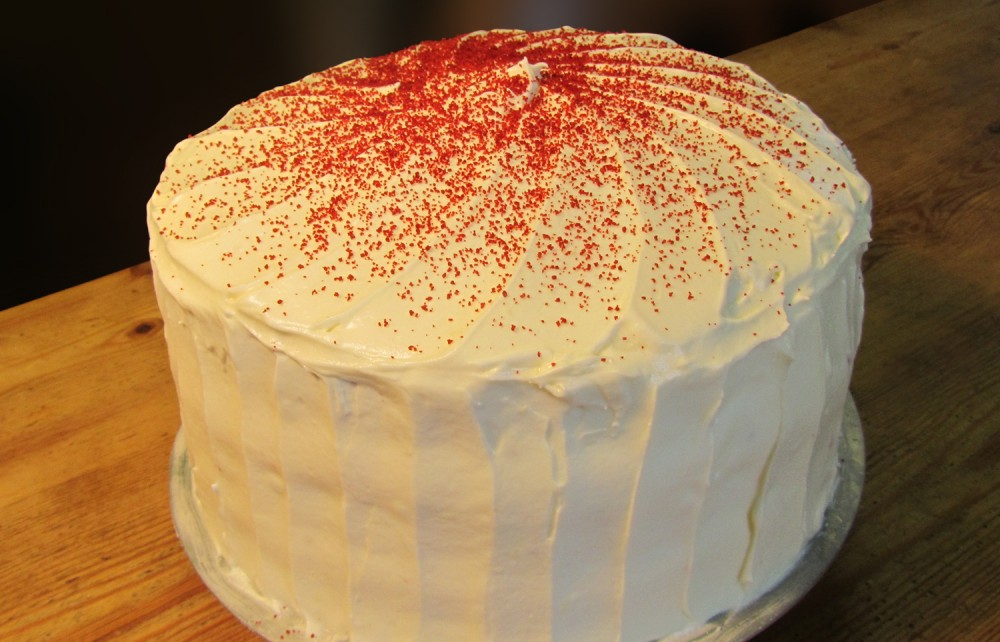 Triple Layer Red Velvet Cake - Whole