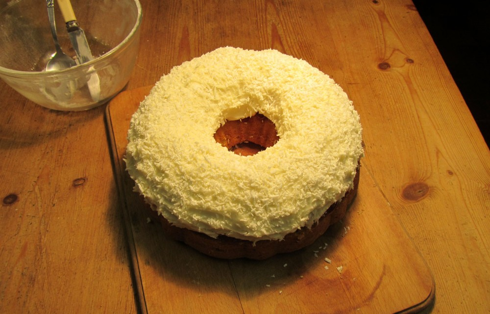 Coconut Ring Cake Recipe - Whole
