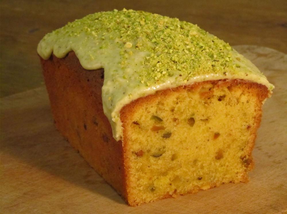 Pistachio Loaf Cake Recipe - Cut