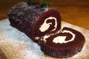 Chocolate Log Sliced