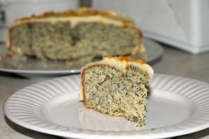 Citrus Poppy Seed Cake Slice