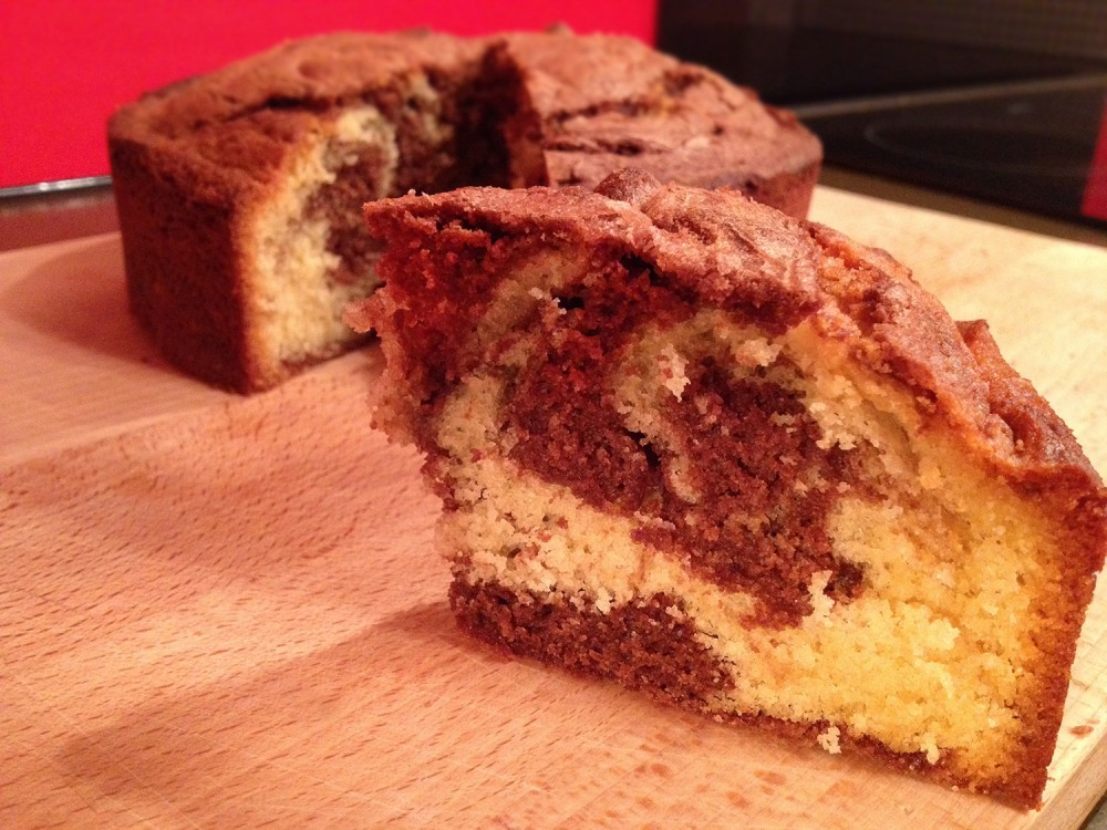 Surprise Marble Cake Recipe - Sliced