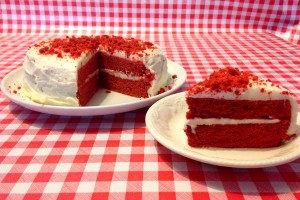 Red (Bull) Velvet Cake Recipe - Sliced