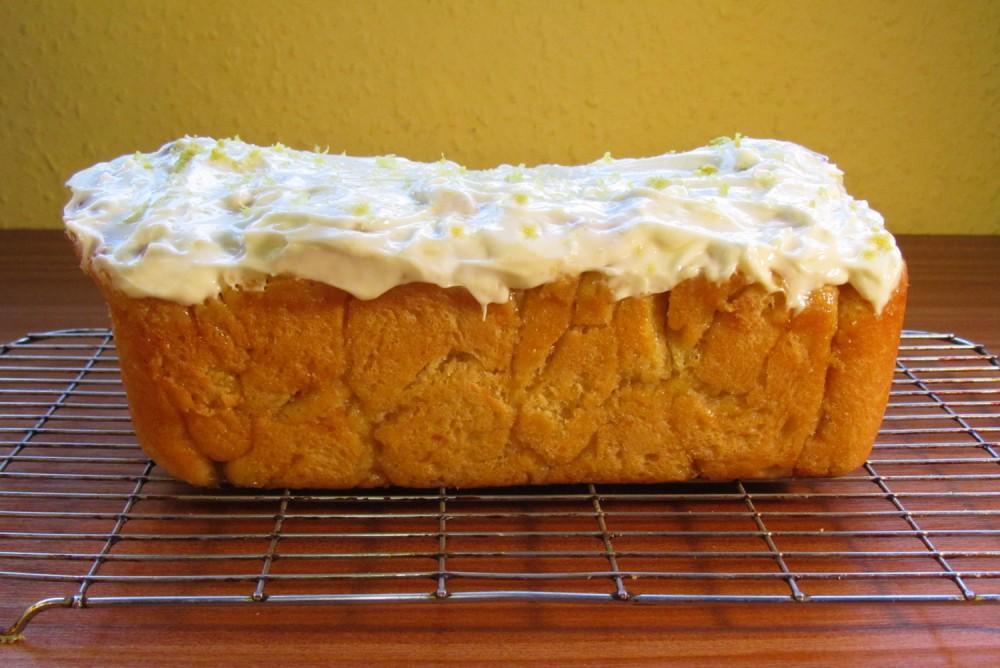 Sweet Dough Lemon Loaf Cake Recipe