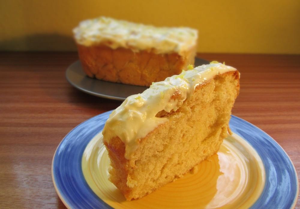 Sweet Dough Lemon Loaf Cake Recipe - Sliced
