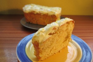 Sweet Dough Lemon Loaf Cake Recipe - Sliced