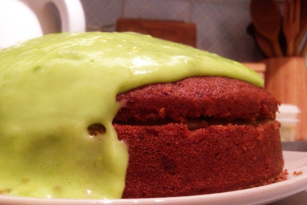 Beetroot Cake with Avocado Icing Recipe