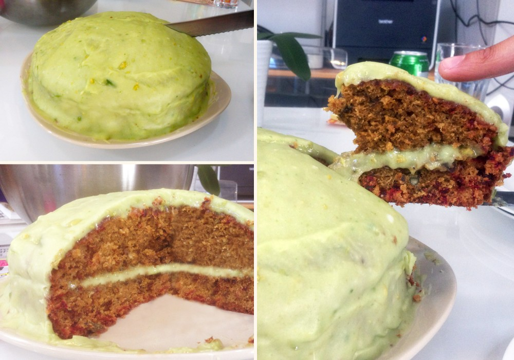 Beetroot Cake with Avocado Icing Recipe Pics